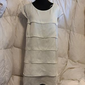 Off white silk dress size medium/6